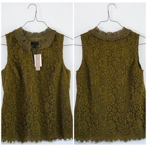 NWT J. Crew size small lace floral pattern blouse
